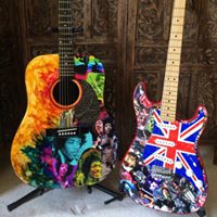 Jimi Hendrix and Rolling Stones Tribute Guitar
