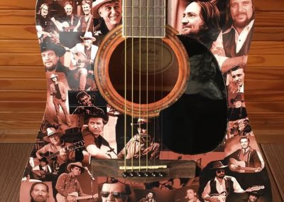 Country Legend Tribute Guitar Art