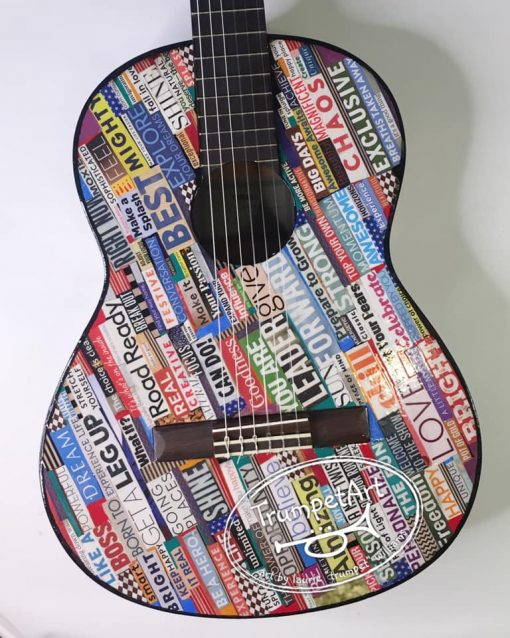 Mixed Media Pop Art Guitar