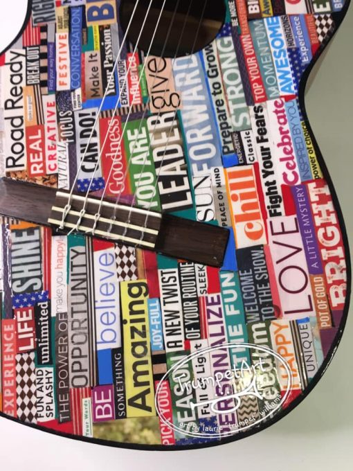 Pop Art Guitar Closeup