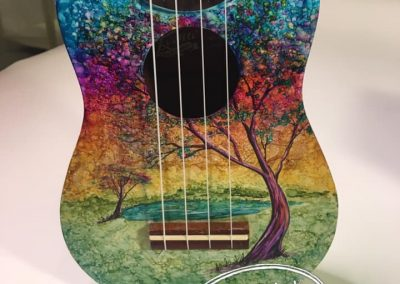 Whimsical Painted Ukelele