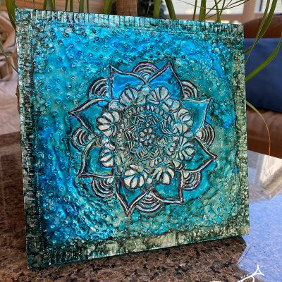 Metal Embossing with Alcohol Ink by Laurie Trumpet