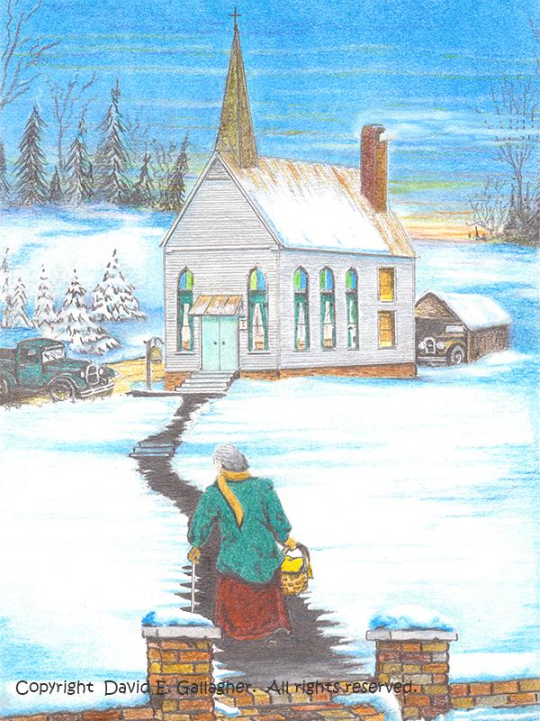 Winter-Church by David Gallagher
