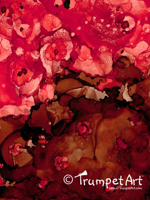 Chocolate & Roses Abstract Floral #20