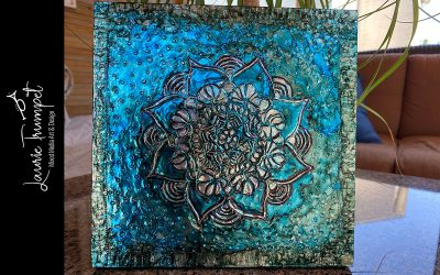 Metal Embossing and Alcohol Ink